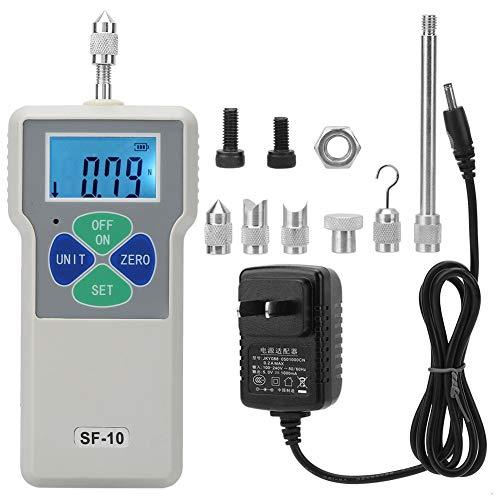 - AC100-240V SF-10 Digital Force Gauge Push and Pull Tester Dynamometer Portable Force Meter 10N/1kg/2.2lb(US Plug)