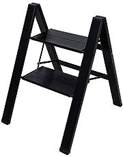 BAOYOUNI Stap Ladder Lichtgewicht opvouwbare aluminium trapkruk Heavy Duty trapladders Opbergrek met anti-slip breed pedaal voor huishouden, kantoor, schilderen en plantenpotten weergeven