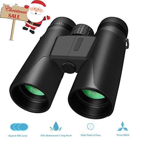 Whew 10x42 Compact HD Binoculars for Adults, Portable and Wa