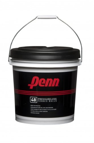 Penn Pressureless Tennis Balls - Non-Pressurized Training / Practice Tennis Balls - Reusable Bucket of 48