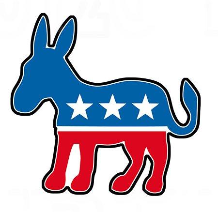 StickerJOE Democratic Party Donkey Bumper Sticker politics 4.5
