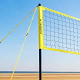 Vermont Portable Volleyball Set - Aluminum Telescopic Posts - Carry Bag Included (Beach Set)