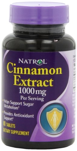 Natrol Cinnamon Extract 1000mg Tablets product image