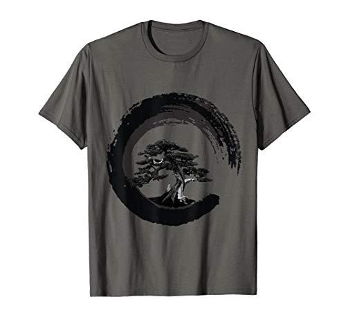 Yin Yang Bonsai Tree Japanese Buddhist Zen T-Shirt