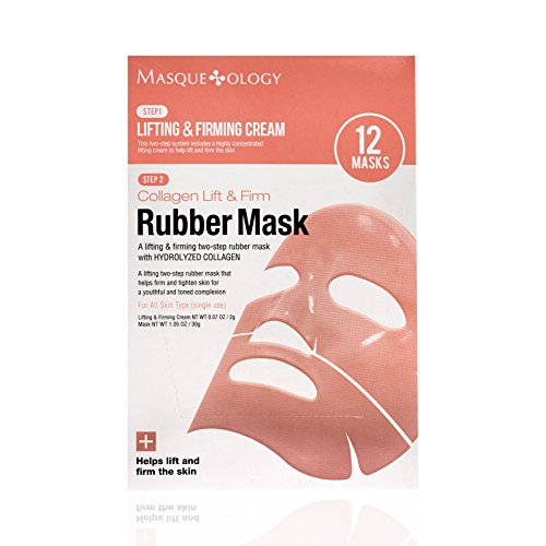 Masqueology - Collagen Lift & Firm Rubber Mask   2 Step System - Antioxidant Hydration Skincare Facemask (12 Pack)