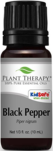Plant Therapy Black Pepper Essential Oil. 100% Pure, Undiluted, Therapeutic Grade. 10 ml (1/3 oz).