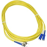 C2G/Cables to Go 14449 SC/ST Duplex 9/125 Single - Mode Fiber Patch Cable (5 Meters, Yellow)