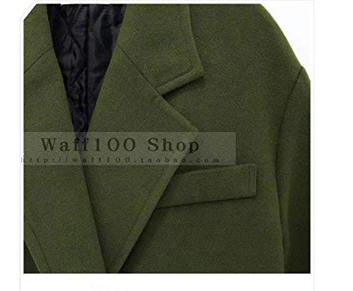 Invernali Vento Outwear Bavero Vintage Giubotto Anteriori Monocromo Tasche Donna Breasted Giacca Lunga Double Manica Confortevole Parka Grün fHngW