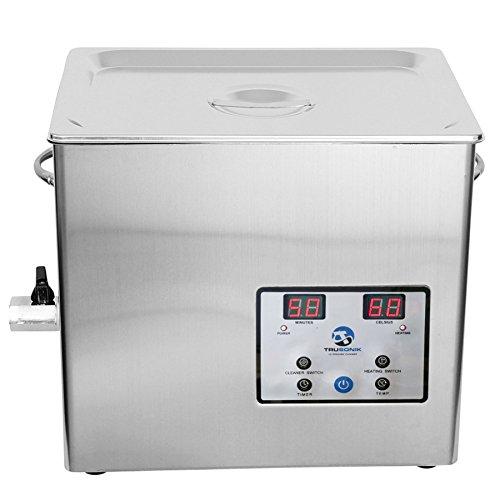 TruSonik Digital Ultrasonic Cleaner with Heater | Industrial Stainless Steel Body, Tub, Basket | (5.0 Liter)