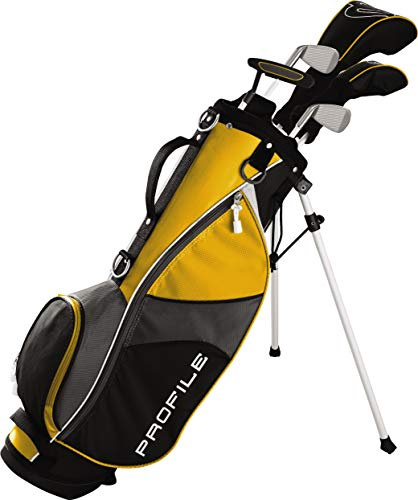 (Wilson Golf Profile JGI Junior Complete Golf Set - Medium, Yellow, Right Hand)