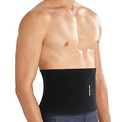 Bracoo Advanced Waist Trimmer, Broad Coverage Sweat Belt, Caloric Burner, Sauna Band – Increased Core Stability, Metabolic Rate & Shedding Excess Water Weight