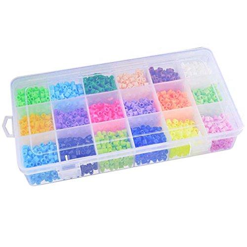 MJARTORIA Boite Perles /à Repasser Racaille Kit Loisir Cr/éatif Accessoires pour Bricolage Enfant Multicolore
