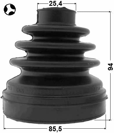 FEBEST # 2... BOOT OUTER CV JOINT - 1 Year Warranty 85.5X94X25.4 TDR500110