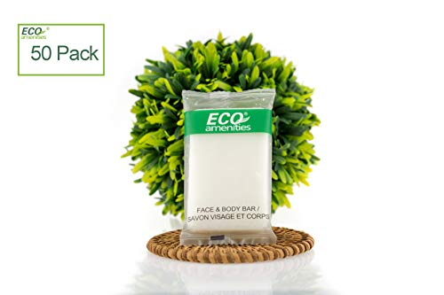 ECO Amenities Spa Sachet Individually Wrapped 1 ounce Cleaning Soap, 50 Bars per Case ()