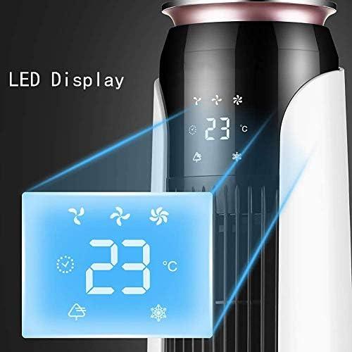ZXL Tower Ventilator, 3 snelheden, 12H Timer, Afstandsbediening, Luchtbevochtiger met Led Display, Ideaal voor Office Home Dorm Travel Y2rhWEs3