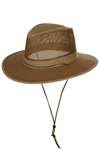 Overland Sheepskin Co Crushable Aussie Mesh Breezer Safari Hat