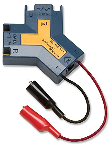 Fluke Networks 10410100 ADSL/POTS Splitter with Alligator Cord