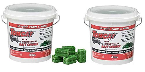 Tomcat Farm and Home Bait Chunx, 4-Pound and Tomcat Mouse Killer (2 Pack) by Motomco
