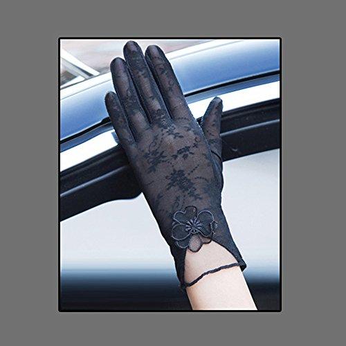 一時停止司書維持Coio 女性手袋 レディースUVカット レース 薄手日焼け防止 紫外線カット ブライダル手袋(スタイル 5)