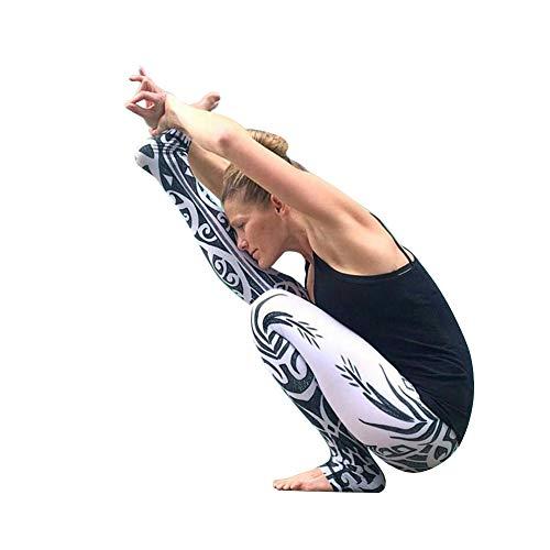 - Newstrength Women's Totem Printing Leggings Sport Jogging Yoga Pants Fitness Gym Trouser Black M