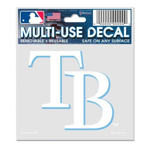 WinCraft MLB Tampa Bay Rays 84425010 Multi-Use Decal, 3