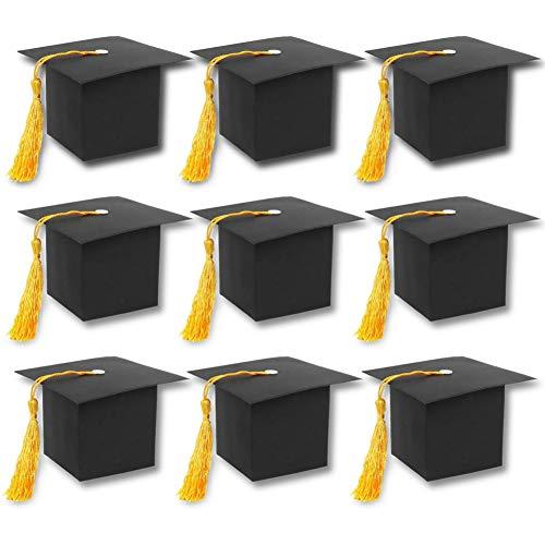 FuturePlusX Graduation Cap Gift Box, 30PCS DIY Graduation Party Favor Boxes Graduation Paper Candy Boxes ()