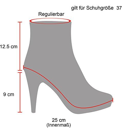 Schwarz Femme Classiques Gefüttert Bottines Stiefelparadies w4HSqBq