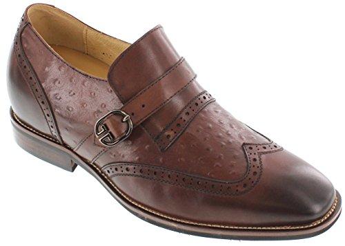 Toto A60121-3 Inches Taller - Height Increasing Elevator Shoes - Bruine Lederen Kleding Schoenen