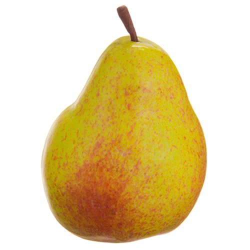 3.5'' Artificial Weighted Pear -Yellow/Gold (pack of 24) by SilksAreForever