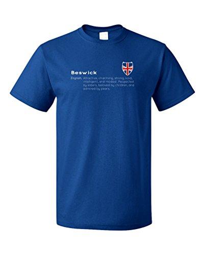 """Beswick"" Definition | Funny English Last Name Unisex T-shirt-(Adult,L)"