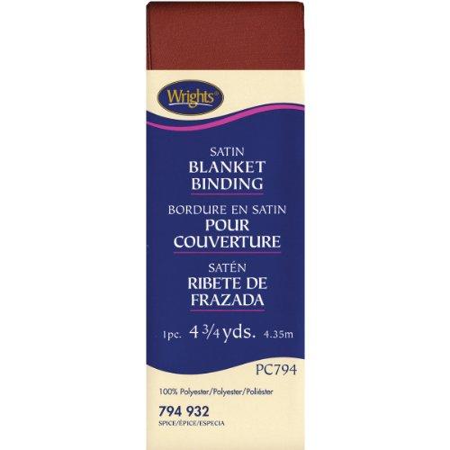 Spice Satin - Wrights 117-794-932 Single Fold Satin Blanket Binding, Spice, 4.75-Yard