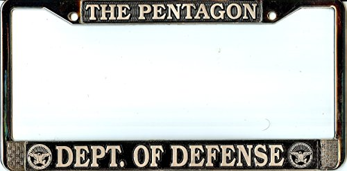 Pentagon Dept. Of Defense License Plate - Frame Pentagon