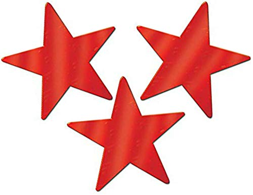 - Red Foil Star Cutouts - 9 Inch, 40 Count