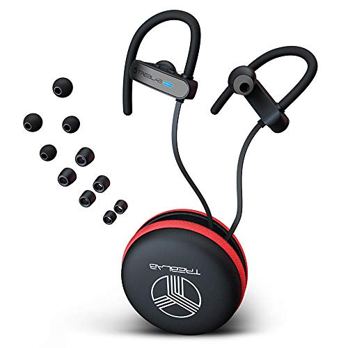 TREBLAB XR800 - Premium Sport Earphones Bluetooth - Secure-Fit IPX7 Wireless Waterproof Earbuds for Running & Workout. Top True-HD Stereo Sound, Noise Cancelling, Microphone, 2019 Sport Headphones (Top Rated Bluetooth Headphones For Working Out)