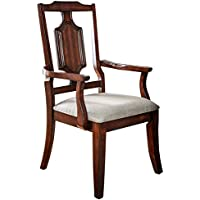 HOMES: Inside + Out IDF-3875AC Rupa Arm Chair Brown Cherry Traditional (Set of 2)