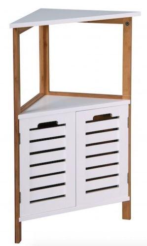 Charmant Floor Free Standing Bambus Bamboo Corner Cabinet Organiser Cupboard Caddy