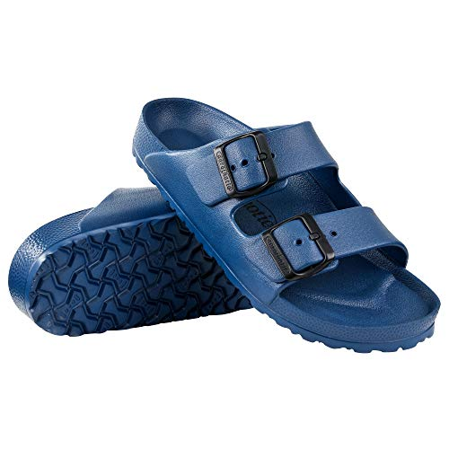 AEROTHOTIC - Water Friendly Light Weight EVA Sandals and Flip Flops for Women - One Piece Technology (US-Women-11, IRIS Navy)