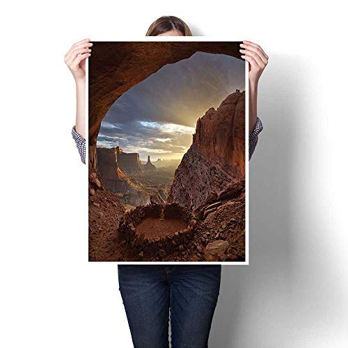 Wall Art Painting Colorful,Decorations Collection Deep Ravine Canyon in Arozona Erosive Action Formation Dry Earth Sa Oils,Paintings Modern Home Decor Wall Art Painting,16