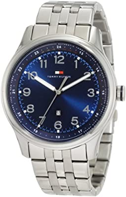 Tommy Hilfiger Men's 1710308 Classic Stainless Steel and Blue Dial Bracelet Watch