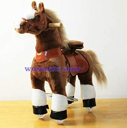 B008N5Y7BW WONDERS SHOP USA Ponycycle Pony Cycle Ride On Horse No Need Battery No Electric Just Walking Horse BROWN - Size SMALL for Children 2 to 5 Years Old or 41uaaLpu43L