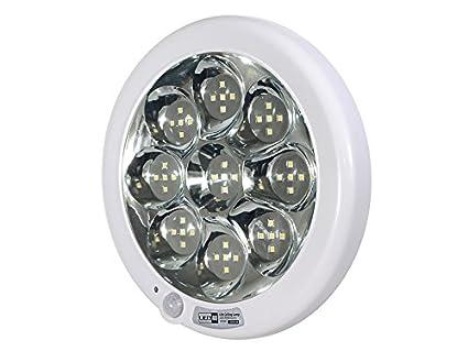 Led4u - Plafón de Techo led con Sensor de Movimiento y Sonido Blanco frío o cálido (Blanco frío): Amazon.es: Hogar