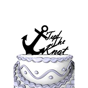 41uaaeYCsNL._SS300_ Beach Wedding Cake Toppers & Nautical Cake Toppers