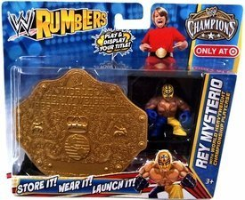 WWE Wrestling Rumblers Exclusive Rey Mysterio with World Heavyweight Championship Playcase by WWE