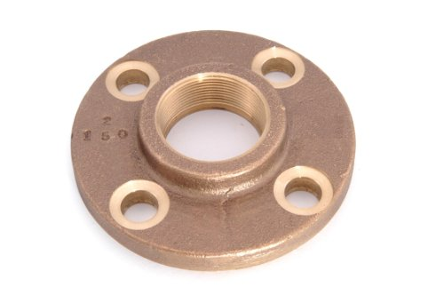 Anderson Metals 38150 Red Brass Pipe Fitting, Threaded Companion Flange, Class 150, 1-1/2