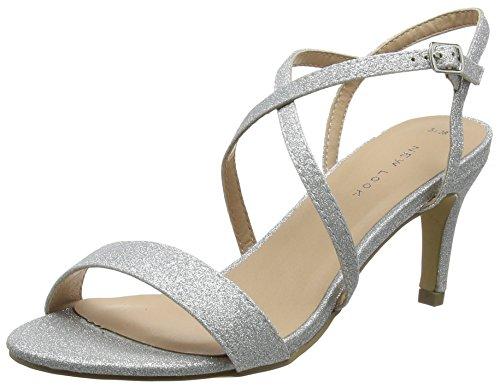 Escarpins Argenté Shepherd Ouvert 92 Bout Femme New Silver Look fEwqzz