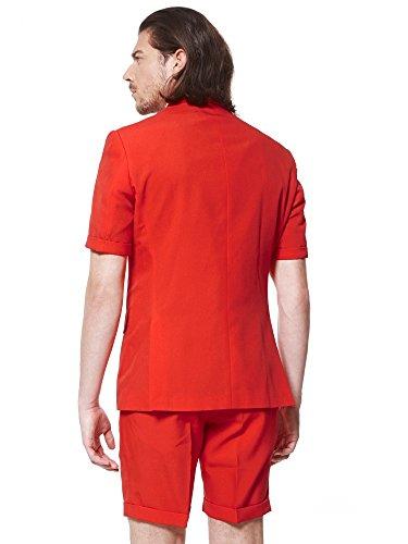 Suit Tie Devil sleeved Shorts Jacket Summer Short amp; Opposuits Men's Red EvnPZHqSq