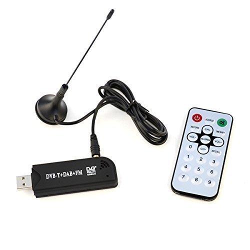 Idealeben Digital USB 2.0 DVB-T/Mó dem Mó vil con Mando a Distancia y Antena FM RTL2832U FC0013B SDR TV Audio IL-6137