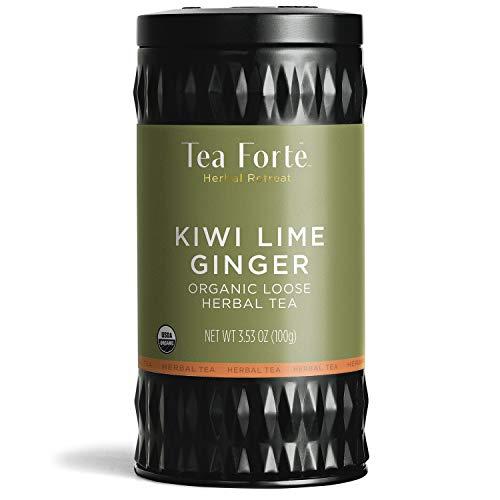 Tea Forte Herbal Retreat Organic Herbal Tea KIWI LIME GINGER, 3.53 Ounce Loose Leaf Tea Canister