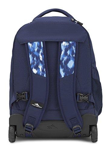 High Sierra Freewheel Wheeled Laptop Backpack, True Navy/Island Ikat by High Sierra (Image #2)