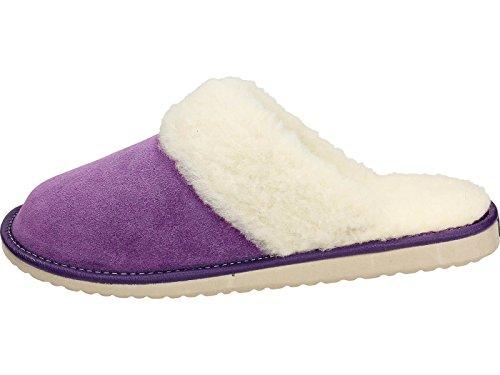 Ecoslippers Zapatillas de estar Por casa de Ante Para Mujer, Color Rosa, Talla 40